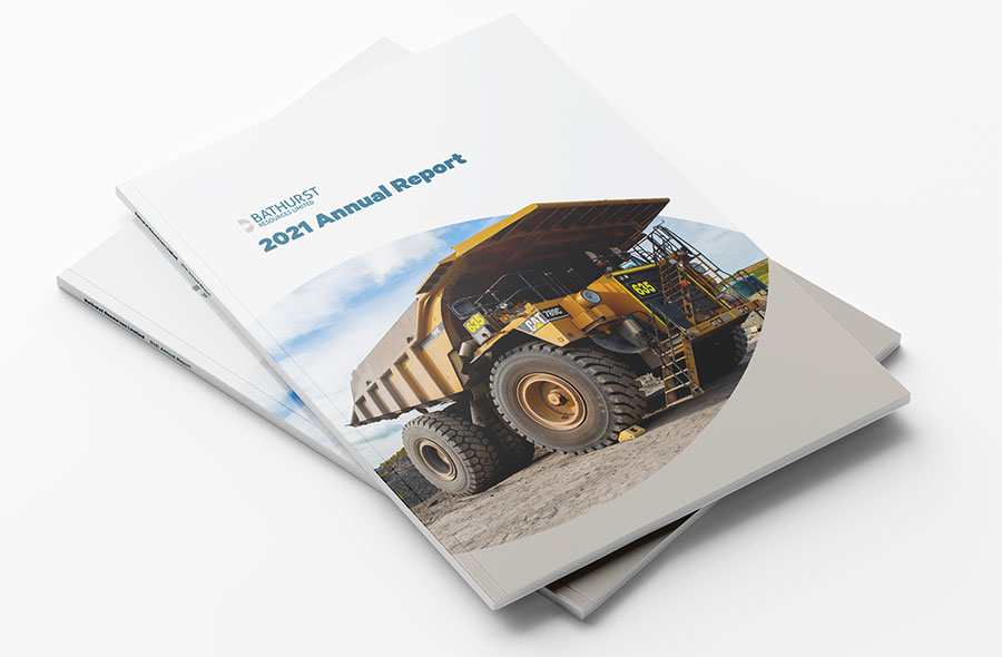 Digital annual report front page
